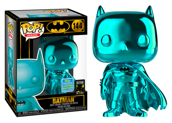 Pop! Heroes: Batman 80 Years - Batman [Teal Chrome] (Summer Convention Exclusive 2019) - Mom's Basement Collectibles