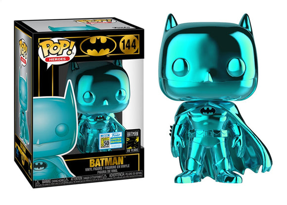 Pop! Heroes: Batman 80 Years - Batman [Teal Chrome] (SDCC 2019) - Mom's Basement Collectibles