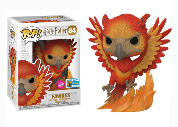 Pop! Harry Potter - Fawkes [Flocked] (SDCC 2019) - Mom's Basement Collectibles