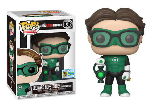 Pop! Television: The Big Bang Theory - Leonard Hofstadter [Green Lantern] (SDCC 2019) - Mom's Basement Collectibles