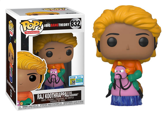 Pop! Television: The Big Bang Theory - Raj Koothrappali [Aquaman] (SDCC 2019) - Mom's Basement Collectibles