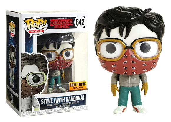 Pop! Television: Stranger Things - Steve [With Bandana] (Hot Topic Exclusive) - Mom's Basement Collectibles