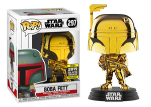 Pop! Star Wars - Boba Fett [Gold Chrome] (Galactic Convention Exclusive 2019) - Mom's Basement Collectibles