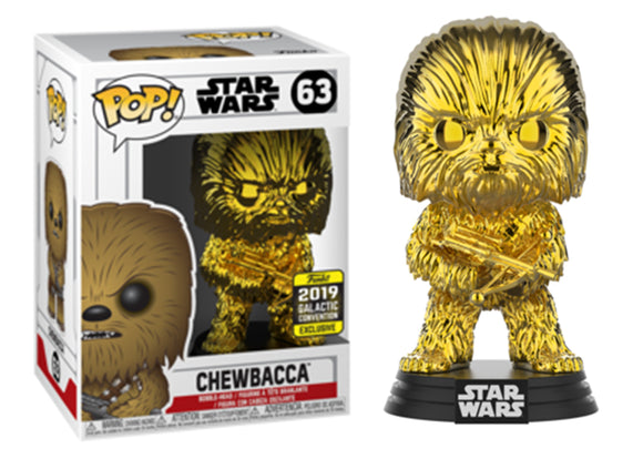 Pop! Star Wars - Chewbacca [Gold Chrome] (Galactic Convention Exclusive 2019) - Mom's Basement Collectibles