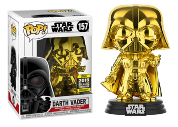 Pop! Star Wars - Darth Vader [Gold Chrome] (Galactic Convention Exclusive 2019) - Mom's Basement Collectibles