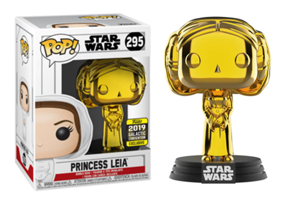 Pop! Star Wars - Leia [Gold Chrome] (Galactic Convention Exclusive 2019) - Mom's Basement Collectibles