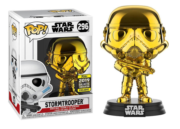 Pop! Star Wars - Stormtrooper [Gold Chrome] (Galactic Convention Exclusive 2019) - Mom's Basement Collectibles