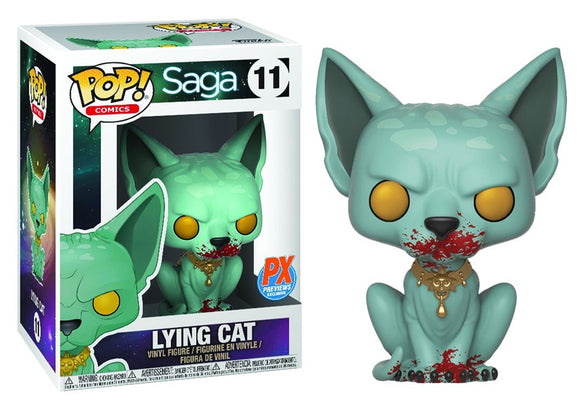 Pop! Comics: Saga - Lying Cat [Bloody] (PX Exclusive) - Mom's Basement Collectibles