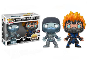 Pop! Games: Mortal Kombat X - Sub Zero & Scorpion 2 Pack (GameStop Exclusive) - Mom's Basement Collectibles