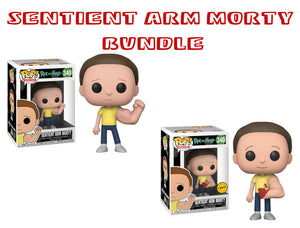 Bundle: Pop! Animation: Rick and Morty - Sentient Arm Morty CHASE - Mom's Basement Collectibles