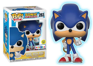 Pop Games Sonic The Hedgehog Sonic With Ring Glow In The Dark T Mom S Basement Collectibles