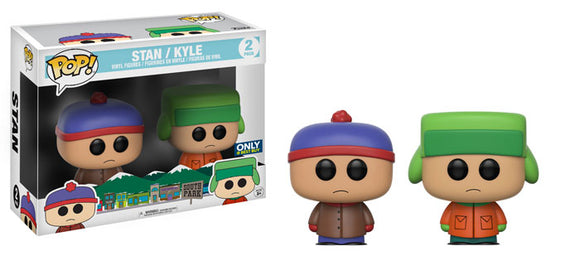 Pop! South Park - Stan and Kyle 2 Pack (Best Buy Exclusive) - Mom's Basement Collectibles