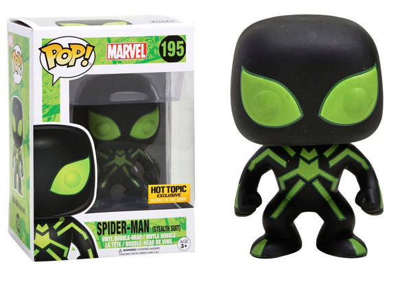Pop! Marvel - Spider-Man [Stealth Suit GITD] (Hot Topic Exclusive) - Mom's Basement Collectibles
