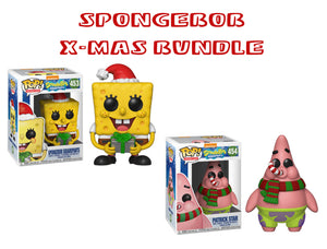 Bundle: Pop! Animation: Spongebob Squarepants - Spongebob & Patrick [X-Mas] - Mom's Basement Collectibles
