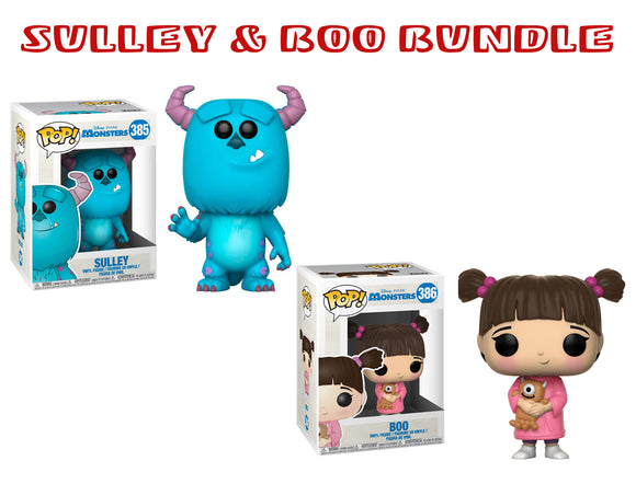 Bundle: Pop! Disney: Monsters Inc. - Sulley & Boo Set - Mom's Basement Collectibles