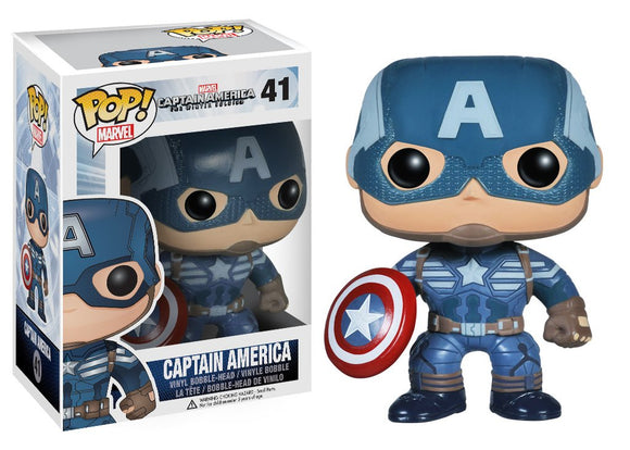 Pop! Marvel: Captain America: The Winter Soldier - Captain America - Mom's Basement Collectibles
