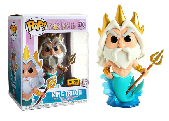 Pop! Disney: The Little Mermaid - King Triton [6 Inch] (Hot Topic Exclusive) - Mom's Basement Collectibles