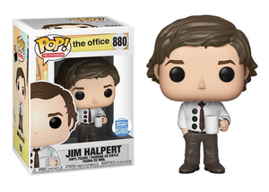 Pop! Television: The Office - Jim Halpert [3-Hole Punch] (Funko Shop) - Mom's Basement Collectibles