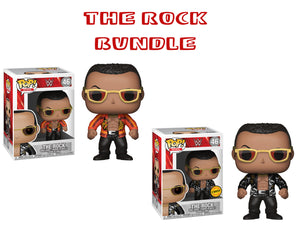 Bundle: Pop! WWE - The Rock [Old School] CHASE - Mom's Basement Collectibles