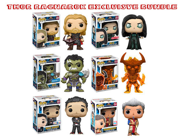 Bundle: Pop! Marvel: Thor Ragnarok Exclusives - Mom's Basement Collectibles