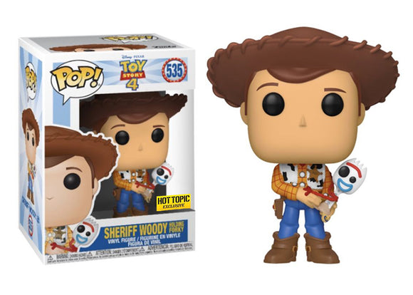 Pop! Disney: Toy Story 4 - Woody & Forky (Hot Topic Exclusive) - Mom's Basement Collectibles