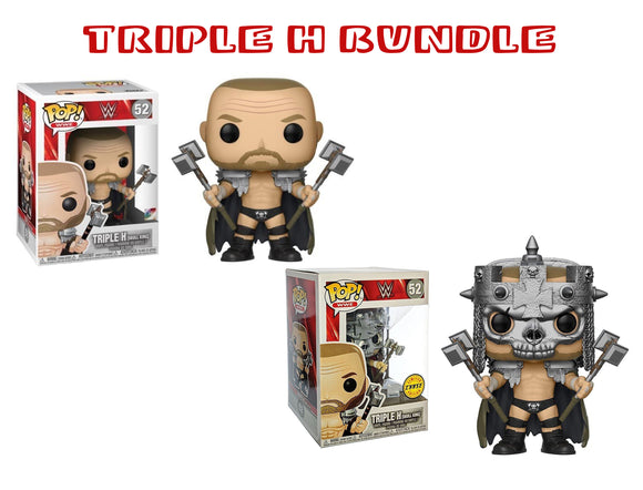 Bundle: Pop! WWE - Triple H [Skull King] CHASE - Mom's Basement Collectibles