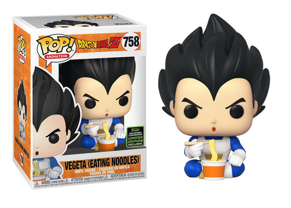 Pop! Animation: Dragon Ball Z - Vegeta [Eating Noodles] (Spring Convention Exclusive 2020) - Mom's Basement Collectibles