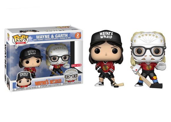 Pop! Movies: Wayne's World - Wayne & Garth [Hockey] 2 Pack (Target Exclusive) - Mom's Basement Collectibles