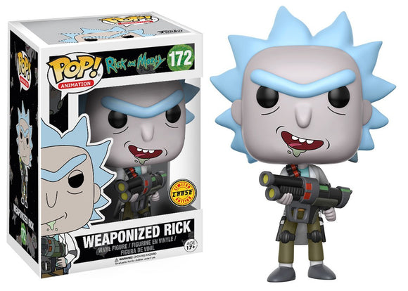 Pop! Animation: Rick & Morty - Weaponized Rick (Chase) - Mom's Basement Collectibles