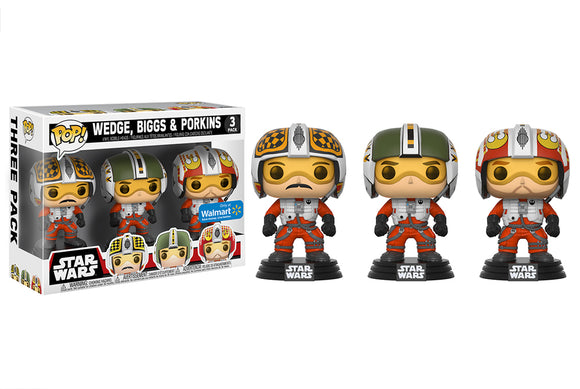 Pop! Star Wars - Biggs, Wedge, & Porkins [3 Pack] (Walmart Exclusive) - Mom's Basement Collectibles