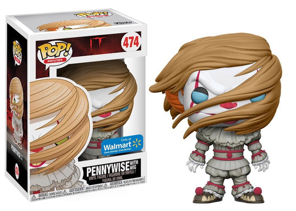 Pop! Movies: It - Pennywise with Wig (Walmart Exclusive) *DAMAGED* - Mom's Basement Collectibles