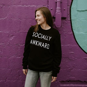 Socially Awkward Sweater ($65) Emz & Co