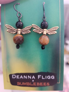 Bumblebee earrings ($15) Deanna Fligg