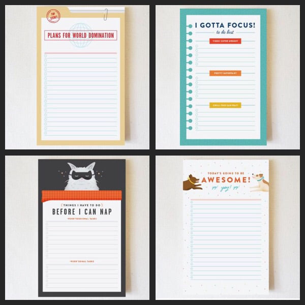 Notepads ($12) Quirky Paper