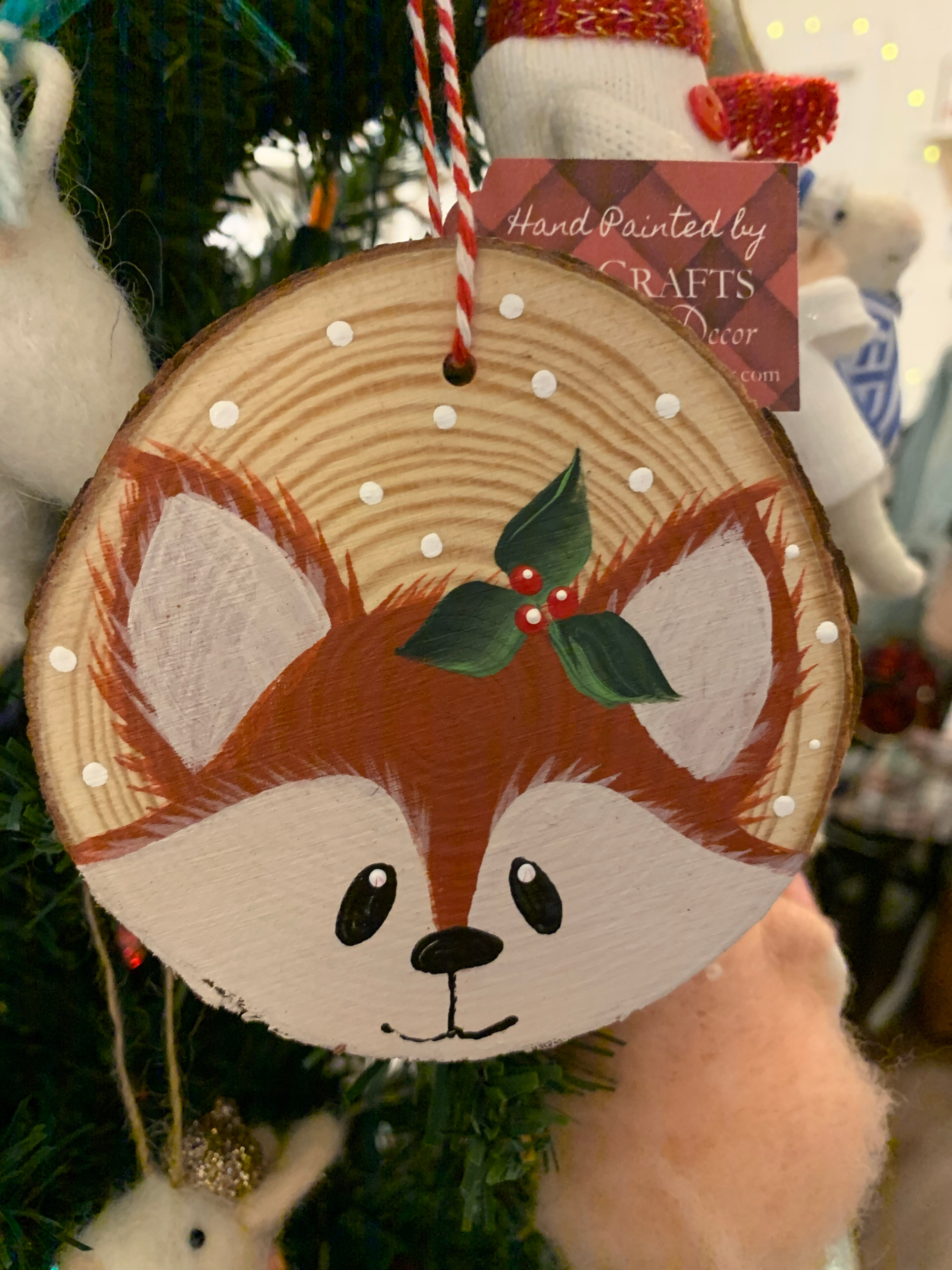 Painted wood Ornament ($15) CC Crafts