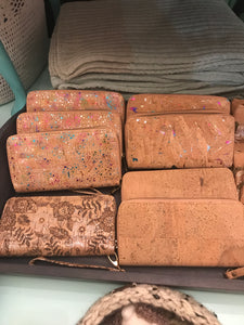 Cork wallets ($25)