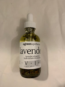 Lavender Infused Oil ($22) Eighteen Apothecary