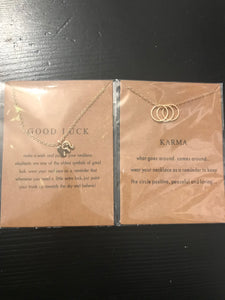Karma / good luck necklace ($12)
