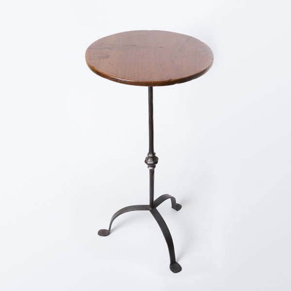 Walnut and Iron Side Table made in Marlborough, New Zealand