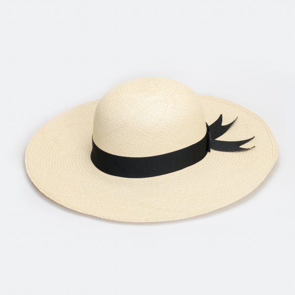 Wide brim Panama hat made in Wellington, Aotearoa