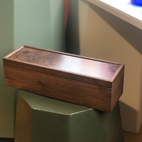 Walnut and Black Velvet Jewellery Box made in The Bay of Islands, New Zealand