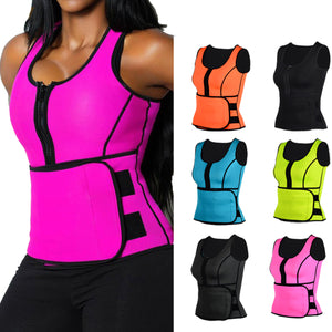 22ce6e68069 Neoprene Sauna Suit Tank Top Vest with Adjustable Waist Trimmer Belt