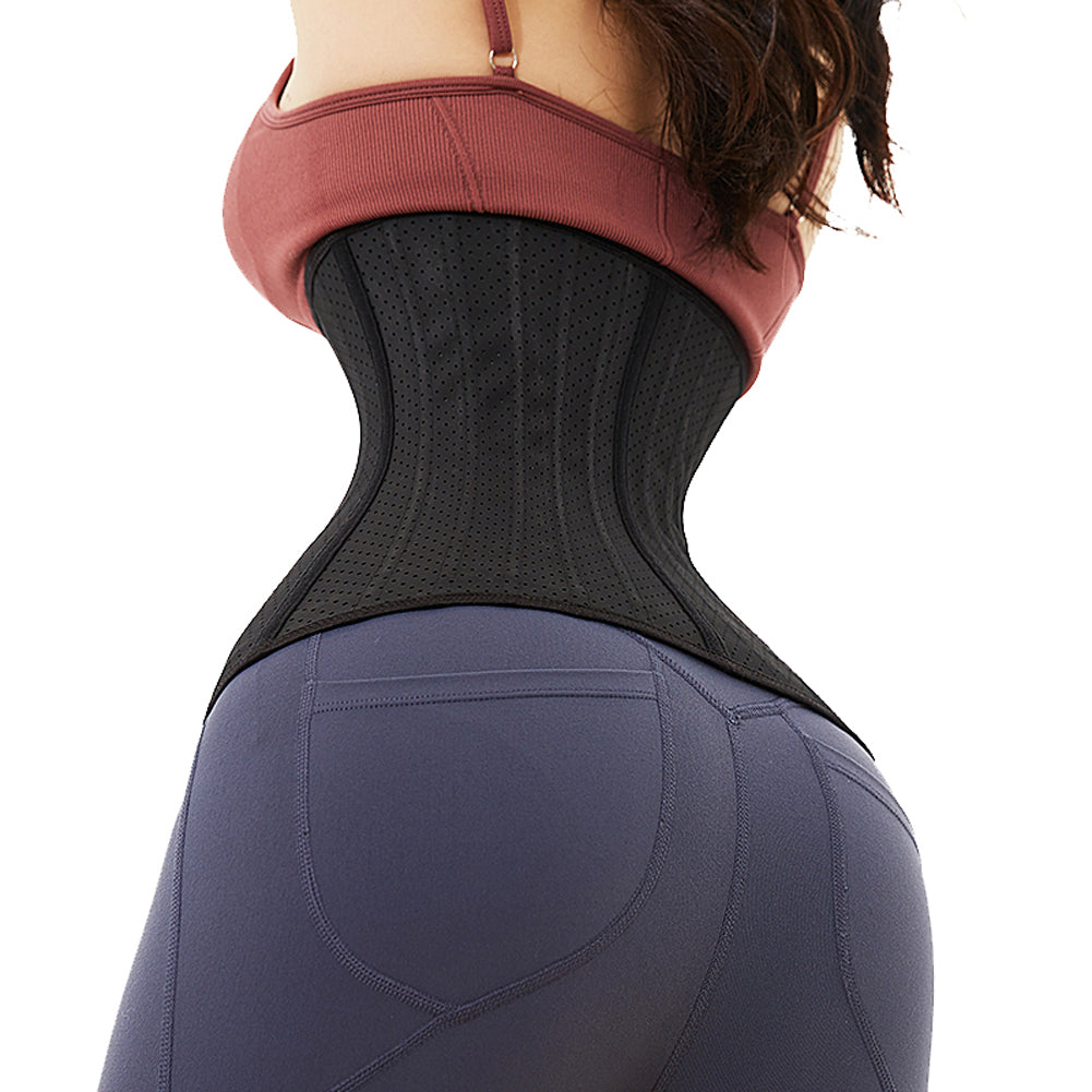98b09d4661 ... Breathable Women s Latex Waist Trainer Corset Cincher Shaper Sports  Workout Hourglass Body Shaper Slimmer ...