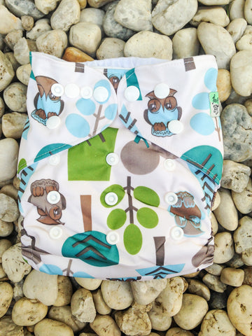 Modern Cloth Nappy- Woodland