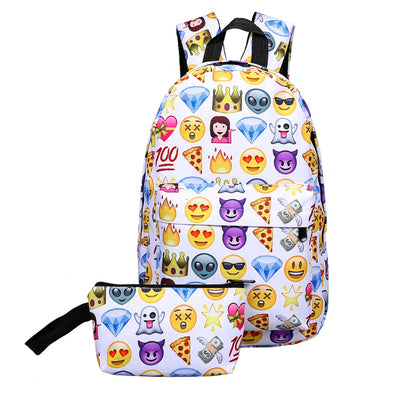 Smiley Emoji Face Backpack