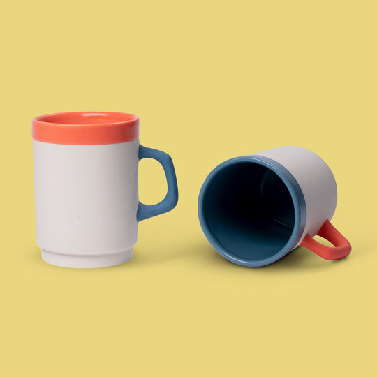 Hand-crafted Stacking Mugs From Certain Standard Clay Facto Ceramics