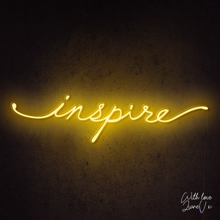 Inspire Neon Sign - LianeV Collection