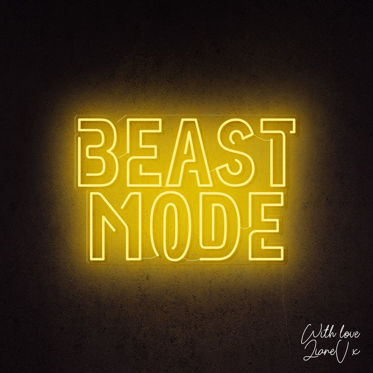 Beast Mode Neon Sign - LianeV Collection