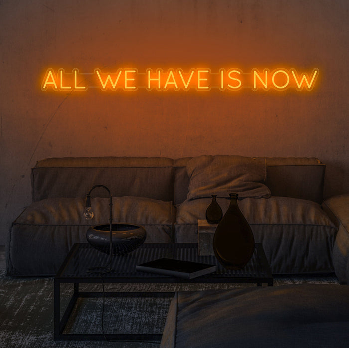 All We Have Is Now Neon Sign