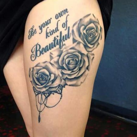 Romantic Rose Tattoo Inspirations Easy Ink A rose tattoo can signify promise, fresh beginnings, strength, power, peace and even a tribute to the a red rose tattoo is associated with romance and passionate love. romantic rose tattoo inspirations